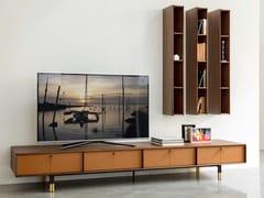 Mobile TV basso in noce con cassettiBAYUS | Mobile TV - PORADA