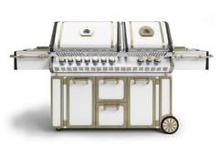 Barbecue a gas in acciaioBBQ140 | Barbecue - OFFICINE GULLO