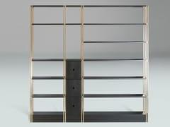 Libreria a giorno con cassetti in acciaio e metalloBDS - PAOLO CASTELLI
