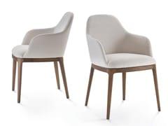 Sedia in pelle con braccioliBECKY | Sedia con braccioli - PACINI & CAPPELLINI