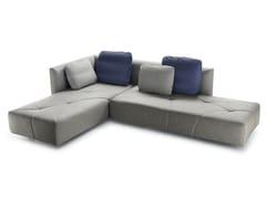 Divano letto componibile sfoderabile in tessuto con ruoteBED BED - BBB