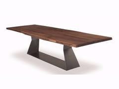 Tavolo rettangolare in legno massello BEDROCK PLANK C - Bedrock