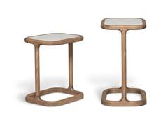 Tavolino rettangolare in frassino e piano in marmoBELLAGIO   Tavolino alto - MORELATO