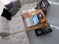 Tavolino ad altezza regolabile quadrato in legno BELLAGIO QUADRO -