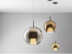 Lampada a sospensione a LED in vetroBELUGA ROYAL D57 - FABBIAN