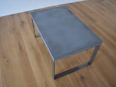 Tavolino da caffè rettangolare in calcestruzzoBEND - BETTON