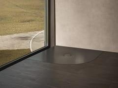 Piatto doccia angolare in acciaio smaltato BETTEFLOOR CORNER -