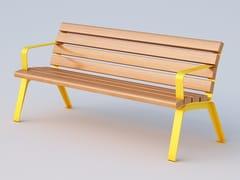 Panchina in okumè con braccioliBETTY | Panchina con braccioli - DIMCAR