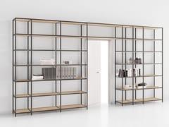 Libreria ufficio a giorno modulare in alluminio e legnoBIBLOS GRID - MARTEX