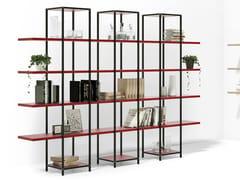 Libreria ufficio a giorno modulare in alluminio e legnoBIBLOS TOWER - MARTEX