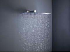 Soffione doccia a muro in ottone con braccio con sistema anticalcareBIG RAIN | Soffione doccia a muro - TECH RAIN