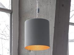 Lampada a sospensione in resina effetto cemento BIN CEMENTO - Matt Cemento