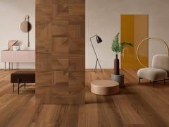 Pavimento/rivestimento in gres porcellanato effetto legnoBIO SELECT WALNUT TOBACCO - LEA CERAMICHE