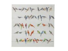 Stampa su tela BIRD MEETING 100x100 -