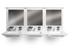 Lavabo rettangolare in Solid Surface con porta asciugamaniBISEL - GES GROUP