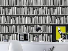 Koziel, BLACK AND WHITE HALFTONE BOOKSHELVES Carta da parati