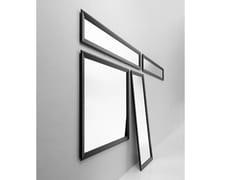 Casamania & Horm, BLACK YUME Specchio da parete o da terra con cornice in alluminio