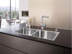 Lavello a 2 vasche in acciaio inox BLANCO ANDANO 400/400-IF - Blanco Andano