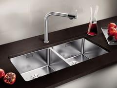 Lavello a 2 vasche sottotop in acciaio inox BLANCO ANDANO 400/400-U - Blanco Andano