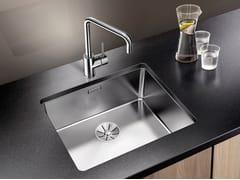 Lavello a una vasca da incasso sottotop in acciaio inox in stile moderno BLANCO ANDANO 500-U - Blanco Andano