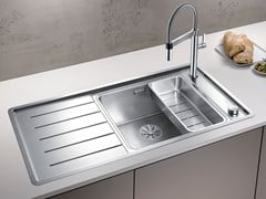 Lavello a una vasca in acciaio inox con gocciolatoio BLANCO ANDANO XL 6 S-IF - Blanco Andano