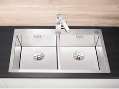 Lavello a 2 vasche da incasso in acciaio inox BLANCO CLARON 400/400-IF/A - Blanco Claron