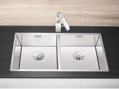 Lavello a 2 vasche filo top in acciaio inox BLANCO CLARON 400/400-IF - Blanco Claron