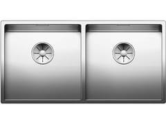 Lavello a 2 vasche sottotop in acciaio inox BLANCO CLARON 400/400-U - Blanco Claron