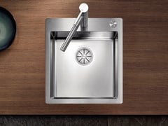Lavello a una vasca filo top in acciaio inox BLANCO CLARON 400-IF/A - Blanco Claron
