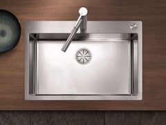 Lavello a una vasca filo top in acciaio inox BLANCO CLARON 700-IF/A - Blanco Claron