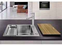 Lavello a una vasca da incasso filo top in acciaio inox in stile moderno BLANCO CLARON XL 60-IF/A - Blanco Claron