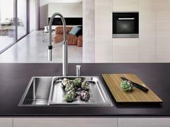 Lavello a una vasca filo top in acciaio inox BLANCO CLARON XL 60-IF - Blanco Claron