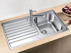 Lavello a una vasca da incasso in acciaio inox con sgocciolatoio BLANCO DINAS 45 S - Blanco Dinas