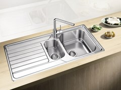 Lavello a una vasca e mezzo da incasso in acciaio inox con sgocciolatoio BLANCO DINAS 6 S - Blanco Dinas