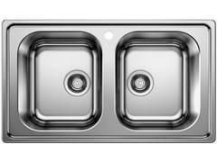 Lavello a 2 vasche da incasso in acciaio inoxBLANCO DINAS 8 - BLANCO