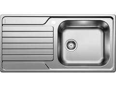 Lavello a una vasca da incasso in acciaio inox in stile moderno con sgocciolatoio BLANCO DINAS XL 6 S - Blanco Dinas