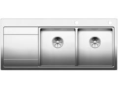 Lavello a 2 vasche da incasso in acciaio inox con gocciolatoioBLANCO DIVON II 8 S-IF - BLANCO