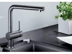 Miscelatore da cucina da piano con doccetta con doccetta estraibileBLANCO LINUS-S versione Silgranit - BLANCO