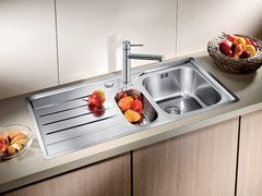 Lavello da incasso in acciaio inox con sgocciolatoio BLANCO MEDIAN 6 S-IF - Blanco Median