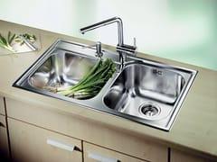 Lavello a 2 vasche da incasso in acciaio inoxBLANCO MEDIAN 9 - BLANCO
