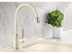 Miscelatore da cucina a ponte con doccetta con doccetta estraibileBLANCO MIDA-S versione SILGRANIT - BLANCO