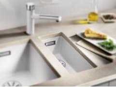 Lavello a una vasca da incasso in Silgranit® BLANCO SUBLINE 160 U - Blanco Subline
