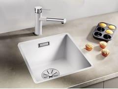 Lavello a una vasca filo top in Silgranit® BLANCO SUBLINE 320 F - Blanco Subline