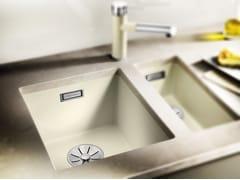 Lavello a una vasca da incasso in Silgranit® BLANCO SUBLINE 320 U - Blanco Subline