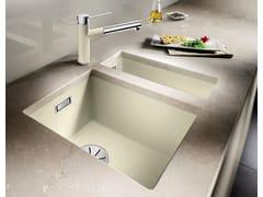 Lavello a una vasca da incasso in Silgranit®BLANCO SUBLINE 320 U - BLANCO