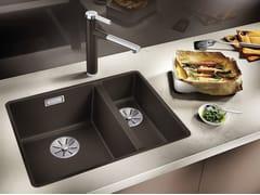 Lavello a una vasca e mezzo filo top in Silgranit® BLANCO SUBLINE 340/160 F - Blanco Subline