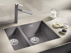 Lavello a una vasca e mezzo da incasso in Silgranit®BLANCO SUBLINE 340/160 U - BLANCO