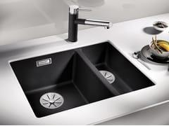 Lavello a una vasca e mezzo da incasso in Silgranit® BLANCO SUBLINE 340/160 U - Blanco Subline