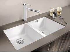 Lavello a 2 vasche da incasso in Silgranit®BLANCO SUBLINE 350/350-U - BLANCO