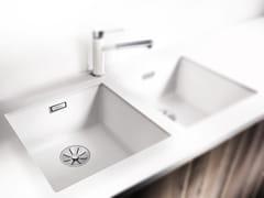 Lavello a una vasca da incasso in Silgranit® BLANCO SUBLINE 400 U - Blanco Subline